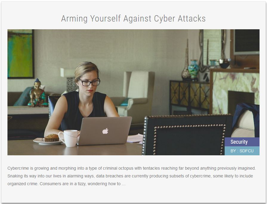 Security News Article Arming Yourself Against Cyber Attacks