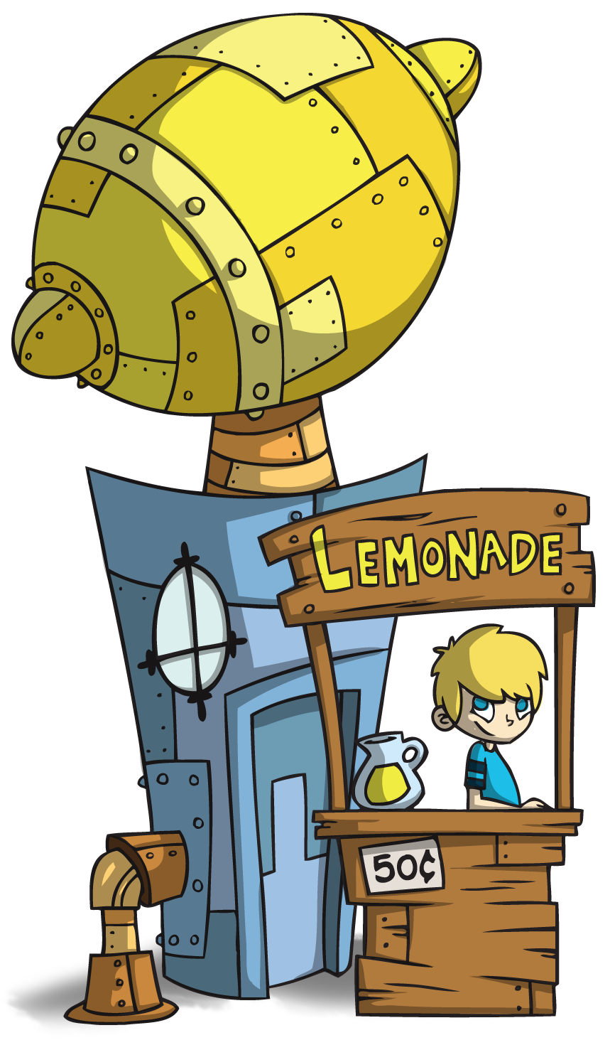 Boy in lemonade stand image
